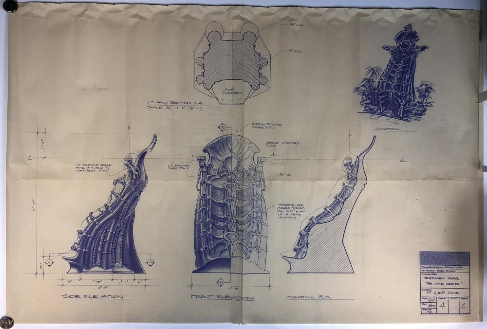 """Stargate SG-1 (1997–2007) - Original Production Blueprint """"Tentacled Chair"""" from The Gamekeeper"""