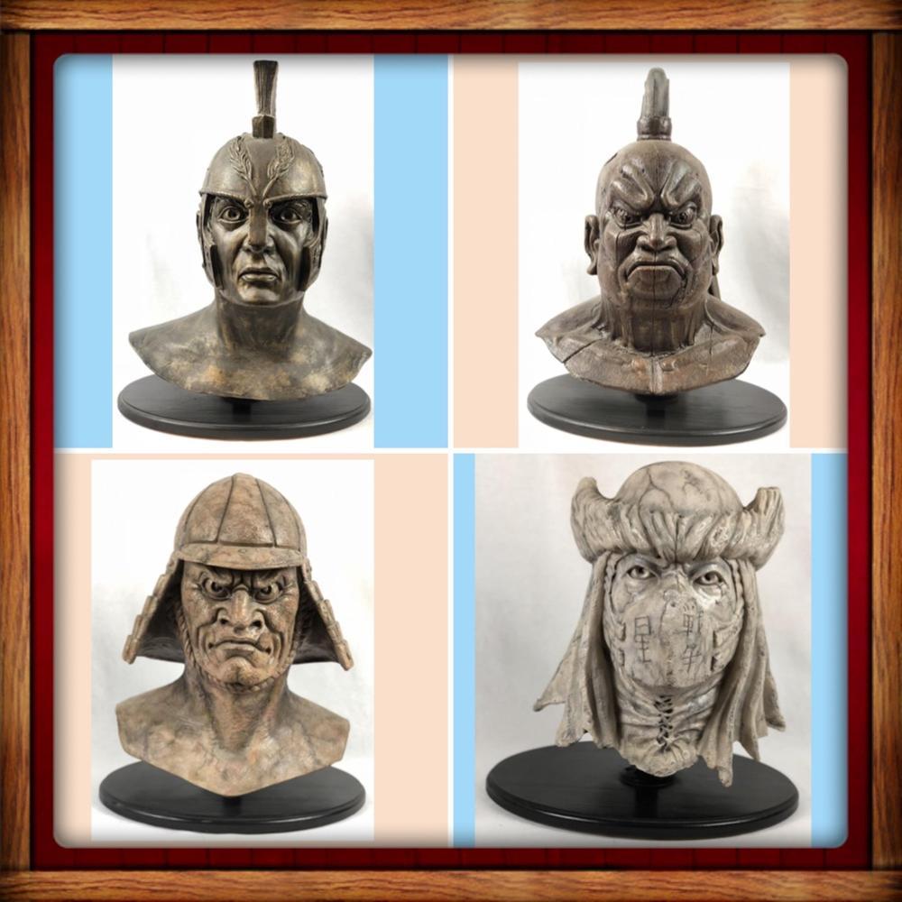 Lot 194: Wishmaster (1997) - Set of 4 Djinn Warrior Fiberglass Heads