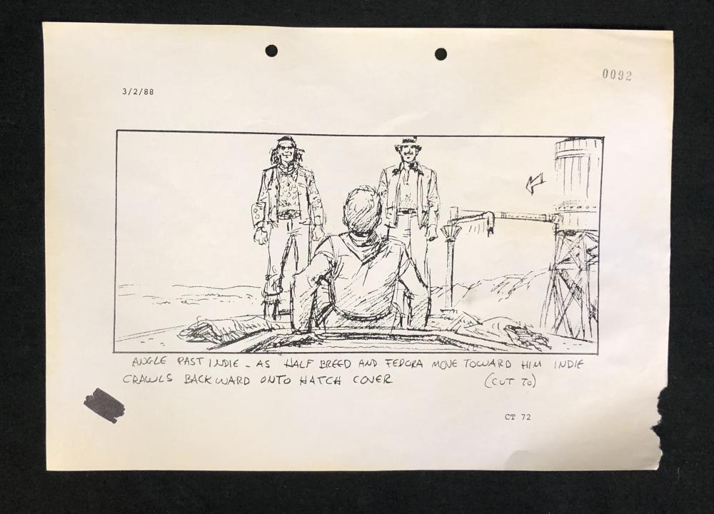 Indiana Jones and the Last Crusade (1989) - Original Vintage Production Used Storyboard Copy - Lot A