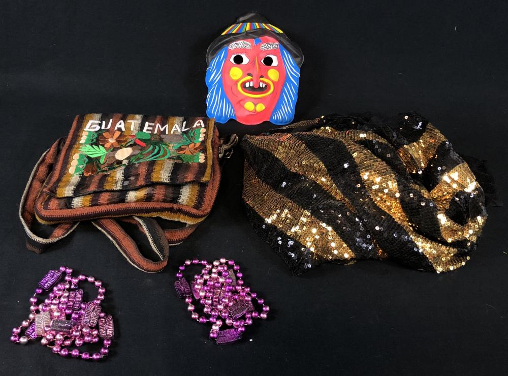 31 (Rob Zombie 2016) - Old Fashioned Halloween Mask, Beads, Bag and Fabric From Camper