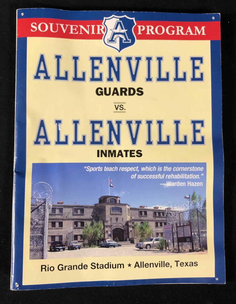 The Longest Yard (2005) - Souvenir Program From Prison Football Game