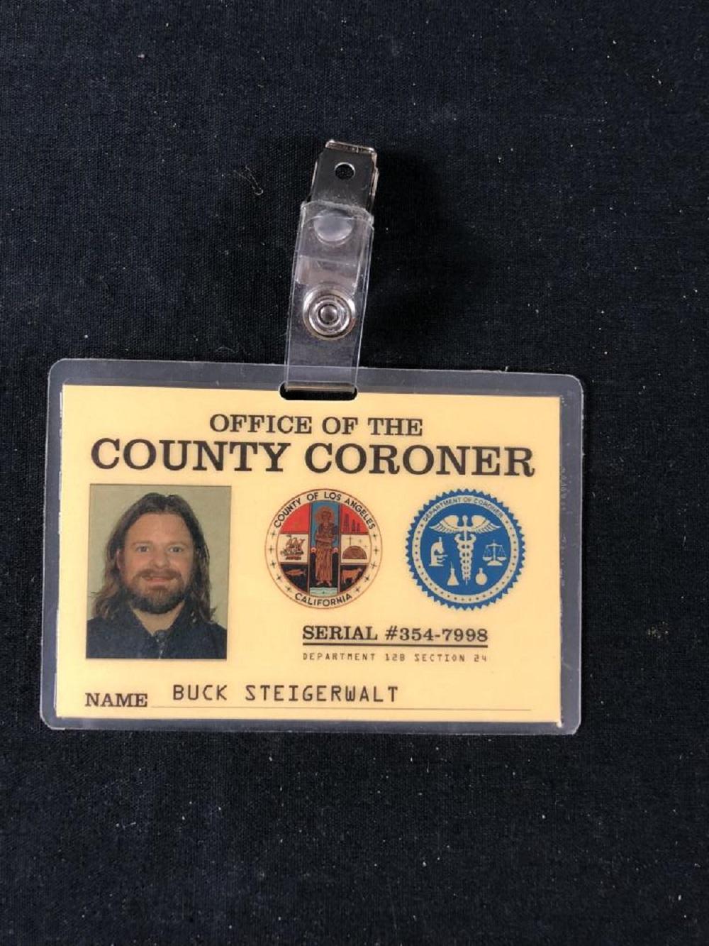 Employee of the Month (2004) - Steve Zahn Coroner Badge