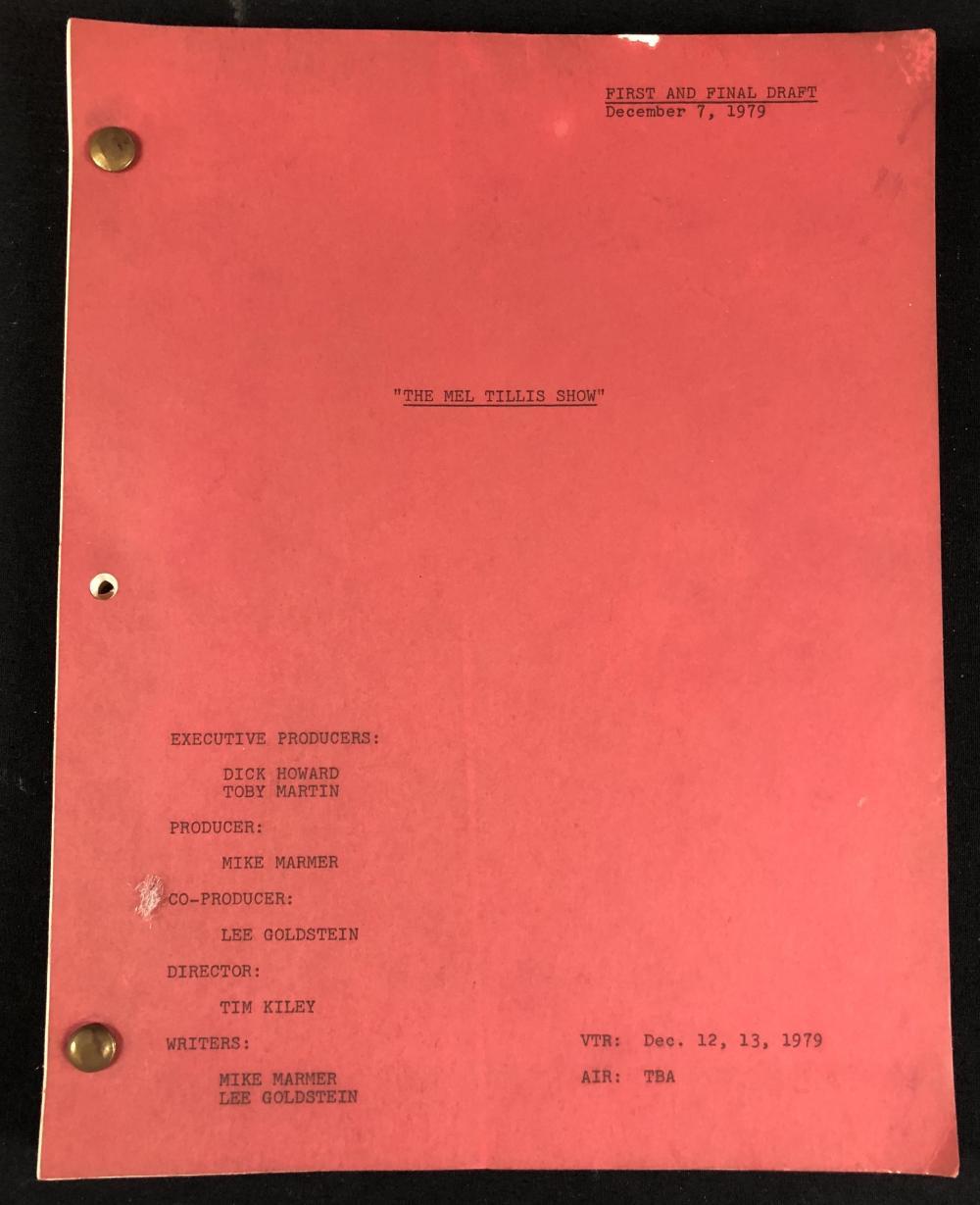 The Mel Tillis Show (1979) - Dottie West Original Set Used Script