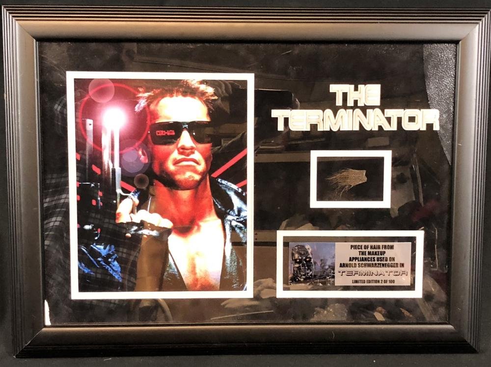 Terminator 2: Judgment Day (1991) - Framed Piece of Makeup Hair Appliance