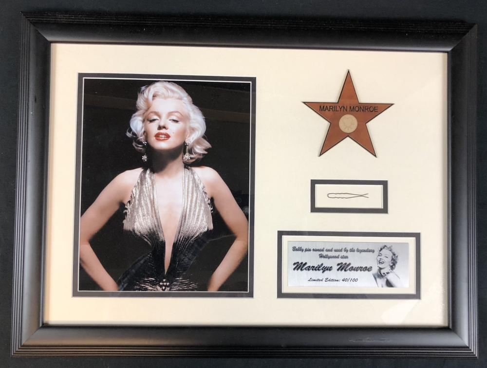 Marilyn Monroe (1926–1962) - Framed Owned and Used Bobby Pin