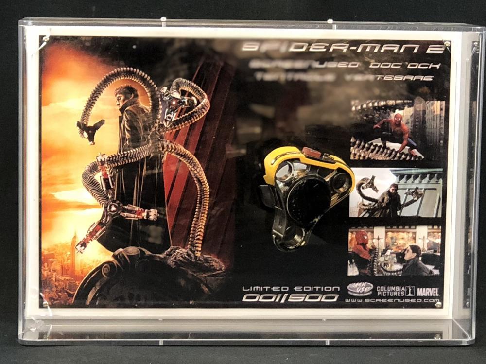 Spider-Man 2 (2004) - Screen Used Ock Tentacle Vertebrae Framed