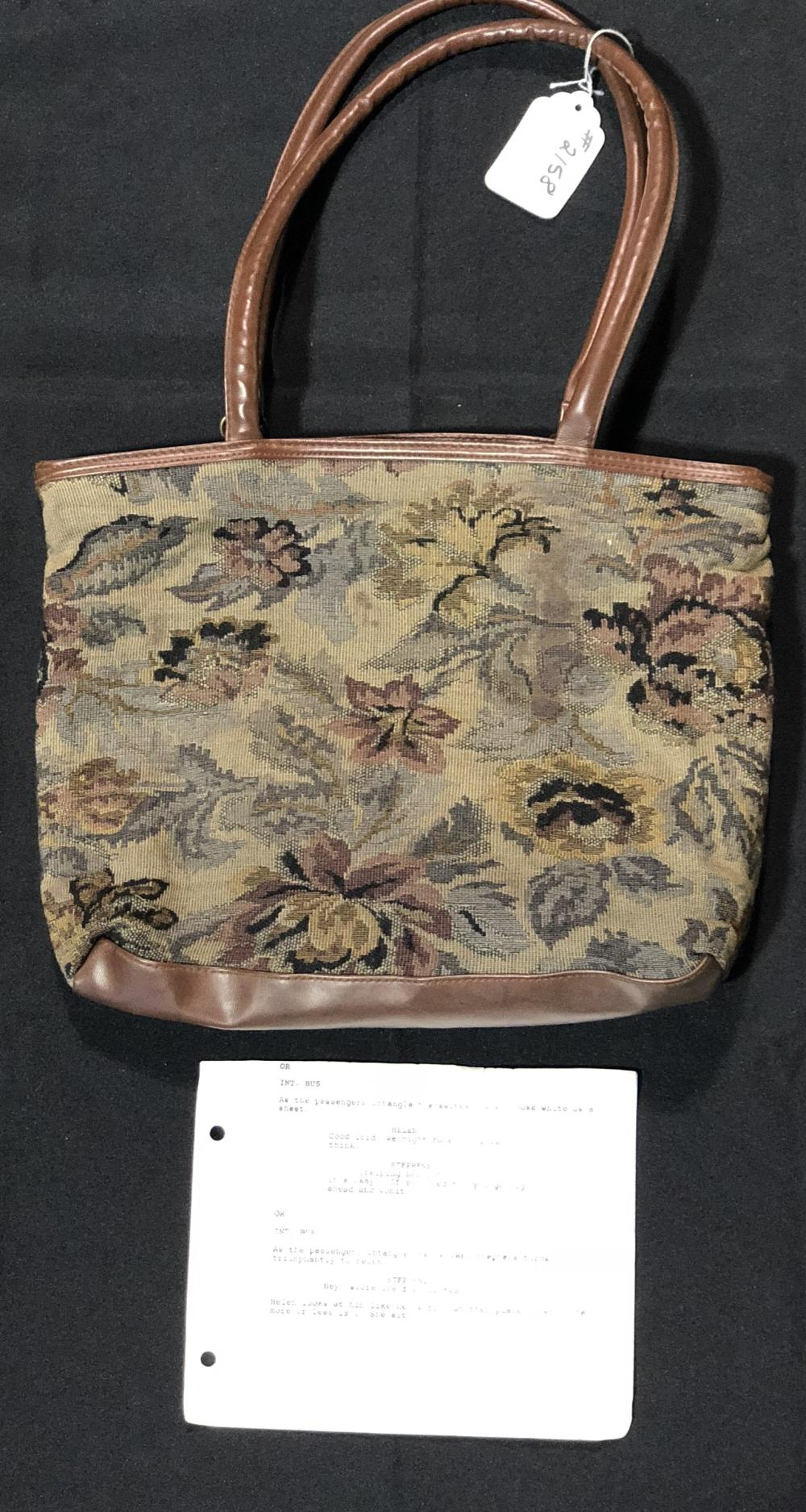 """Speed (1994)  - """"Helen"""" Beth Grant Hand Bag, Contents & Mini Script Page"""
