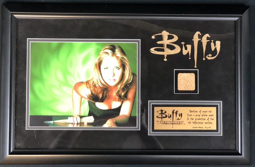 Buffy the Vampire Slayer (1996–2003) - Framed Prop Stake Section of Wood