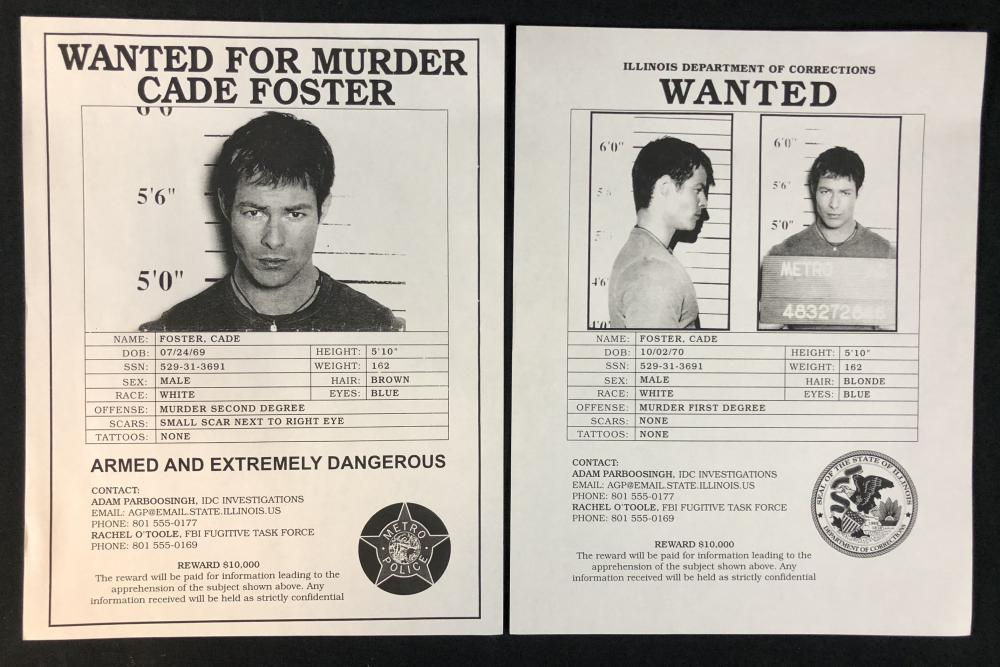 First Wave (1998–2001) - Set of 2 Cade Foster Wanted Posters