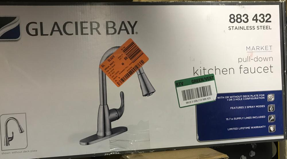 Lot Glacier Bay Market Pull Down Kitchen Faucet