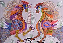 FRANCISCO DOMINGOS DA SILVA (1910-1985), Framed Gouache on Canvas, signed