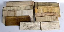 A GROUP OF 17TH/18TH CENTURY ANTIQUE DOCUMENTS of various subjects and size