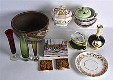 TWO BOXES OF VARIOUS COLLECTABLES including a coalport vase, carltonware et