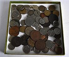 A BOX OF VARIOUS WORLD COINAGE mainly 19th & 20th Century. (qty)