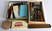 TWO BOXES OF VARIOUS COLLECTABLES including a late Victorian corkscrew etc.
