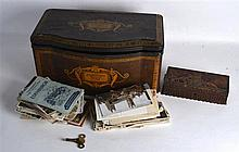 A VINTAGE MACKINTOSH'S SHERATON TOFFEE TIN CASKET containing numerous vinta
