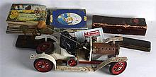 A MIXED GROUP OF COLLECTABLES including a vintage picnic set, various cigar