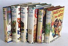 SIX EDGAR RICE BURROUGHS BOOKS including Tarzan of the Apes etc. (6)