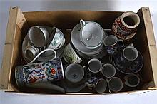 A COLLECTION OF ASSORTED EARLY 20TH CENTURY ORIENTAL CERAMICS including cul
