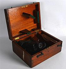 A MILITARY WW1 BOXED NAVAL RANGE FINDER by T Cooke & Sons Ltd London & York