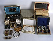 A LARGE COLLECTION OF MAINLY COSTUME JEWELLERY. (qty)