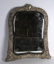 A HUGE LATE VICTORIAN HALLMARKED ENGLISH SILVER MIRROR of monumental propor