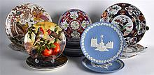 A COLLECTION OF VARIOUS PLATES including Doulton, Wedgwood, Worcester etc.