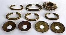 AN UNUSUAL COLLECTION OF EARLY AFRICAN BRONZE CURRENCY BANGLES and other ar