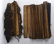 AN INTERESTING GROUP OF 19TH CENTURY SOUTH EAST ASIAN PRAYER PALM LEAVES de