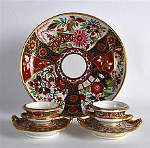EARLY 19TH C. BARR FLIGHT AND BARR IMARI PATTERN SAUCERDISH, impressed mark
