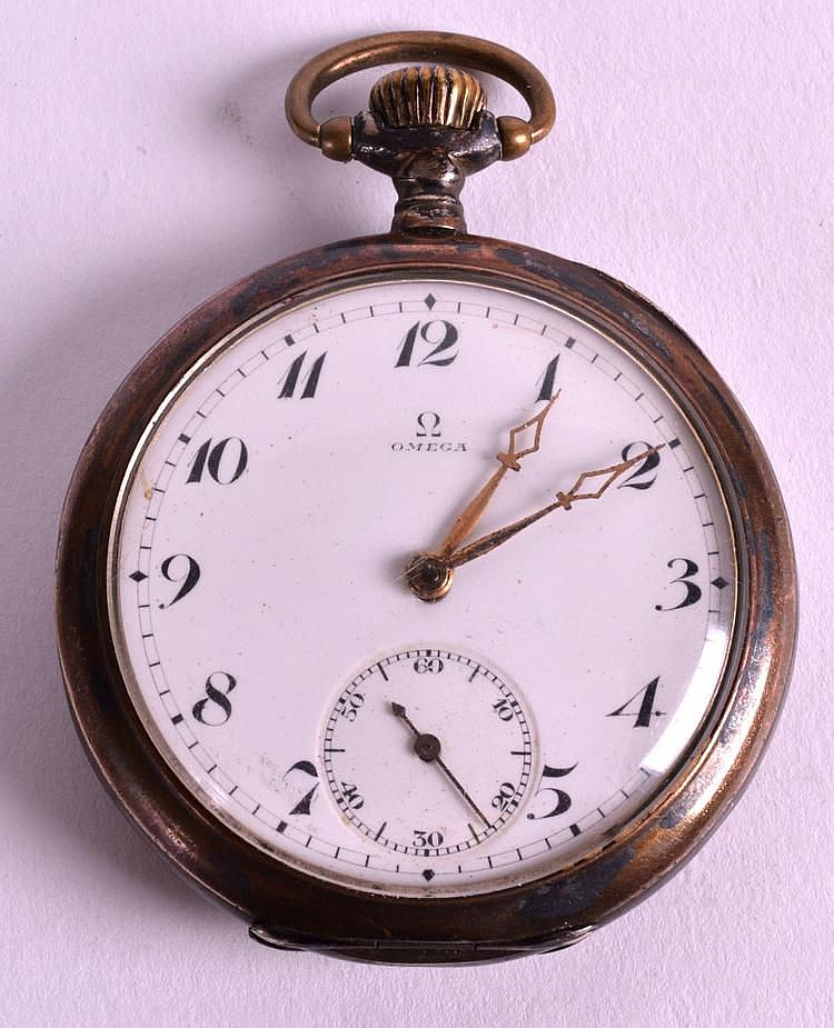 an early 20th century silver omega gentlemans pocket w