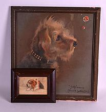 Florence Jay (1905-1920) Pastel, together with another framed pastel. (2)
