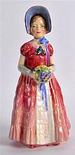A ROYAL DOULTON FIGURE 'DIANA'. 5.5ins high.
