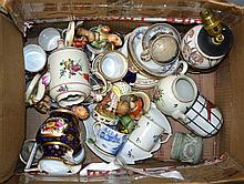 A Collection of 18th and 19th teawares including Worcester, Derby, Meissen