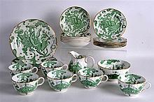 A ROYAL WORCESTER 'CHINESE INSPIRED' PART COFFEE SERVICE including cups, sa