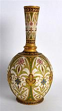 Grainger's Worcester vase of Persian inspiration with  raised gilding two t