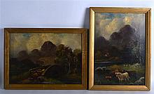 SCOTTISH SCHOOL, FRAMED PAIR EARLY 20TH CENTURY OIL ON CANVAS, indistinctly