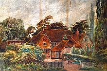 W D GUTHRIE (19th Century) Framed Watercolour, 'Rural Cottage'. Signed. 2Ft