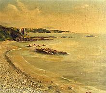 E.M (1937) SCOTTISH, FRAMED OIL ON CANVAS, signed & dated, Coastal Landscap