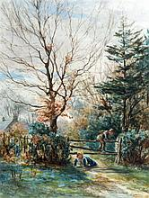 J MCLAUREN (SCOTTISH), FRAMED EARLY 20TH CENTURY WATERCOLOUR, signed, Child