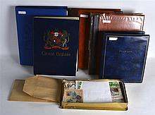 A LARGE COLLECTION OF VARIOUS WORLD STAMPS in four albums and loose in a bo