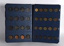 A COIN LIBRARY with British copper coins, from 1700 to 1960, pennies to far