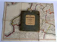 A GOOD EARLY 19TH CENTURY CASED MAP 'SPAIN AND PORTUGAL' by E Mentelle. 4Ft