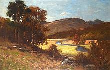 T H MCKAY (SCOTTISH), FRAMED OIL ON CANVAS, signed, River Landscape. 1 ft.