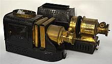 A VICTORIAN SCOTTISH J LIZARS MAGIC LANTERN together with another lantern.