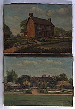 Francis Vingoe (1879-1940) Pair of unframed oil on canvas, 'House Studies'.
