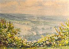 FLORENCE R WALKER, FRAMED WATERCOLOUR, signed, British Landscape. 11ins x 1