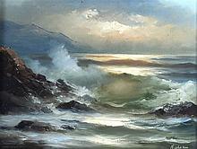 Tom Nielsen (20th Century) Framed oil on canvas, 'Seascape'. 1Ft 10ins x 1f