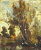 Henry George Moon (1857-1905) Framed oil on canvas, 'Rural scene'. 7.75ins, Henry George Moon, £50