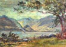 J BARNEY (1903), FRAMED WATERCOLOUR, signed & dated, Mountainous Landscape.